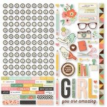 Simple Stories - THE RESET GIRL Icon Stickers - samolepky