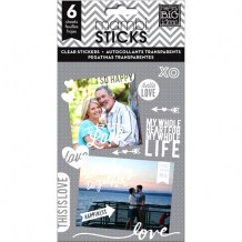 Mambi - TRUE LOVE Photo Stickers - transparentní samolepky
