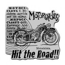 Stampendous - MOTORCYCLE ELEMENTS - cling razítko pro scrapbook
