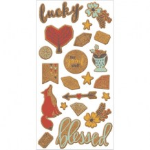 We R Memory Keepers - SHINE Cork Stickers - samolepky